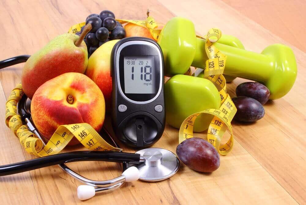 Υγιής δίαιτα - Φρούτα, βάρη και μεζούρα