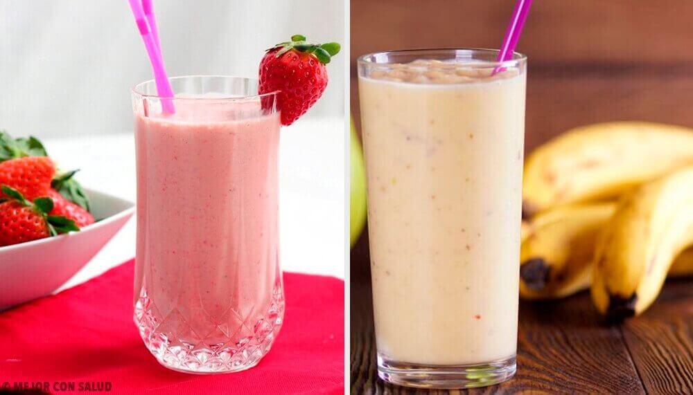 5 υπέροχα smoothies για πρωινό με φράουλα και μπανάνα