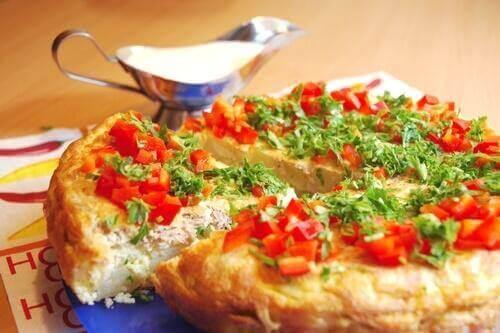 Ομελέτα με ζαμπόν και τυρί