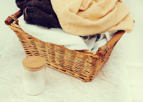 Πετσέτες σε καλάθι