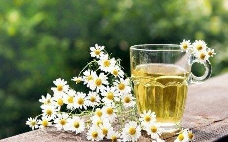 Τσάι χαμομηλιού και άνθη