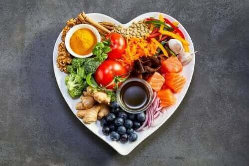 Πιάτο με διάφορα φαγητά