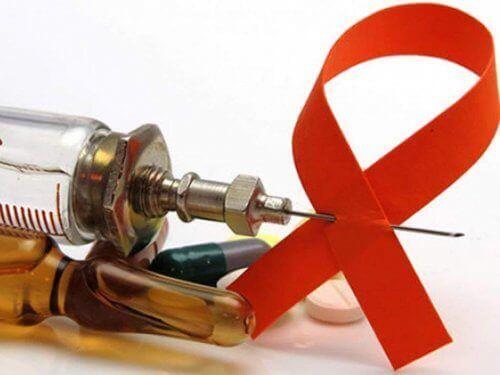 Σύριγγα και κορδέλα κατά του AIDS