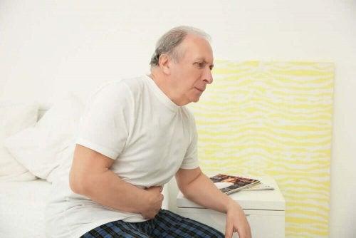 Άνδρας με συμπτώματα προστάτη