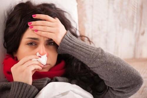 Γυναίκα με γρίπη