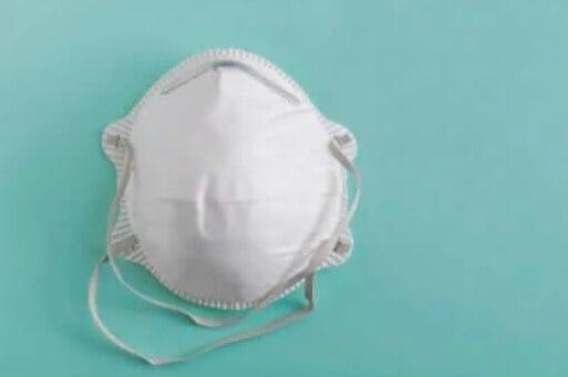 Άσπρη ιατρική μάσκα