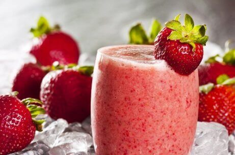 Γρανίτα φράουλα με καρπούζι