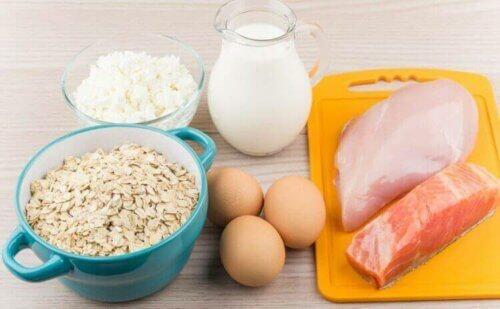 Διάφορα τρόφιμα με πρωτεΐνες