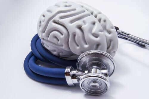 Πλαστικός εγκέφαλος και στηθοσκόπιο