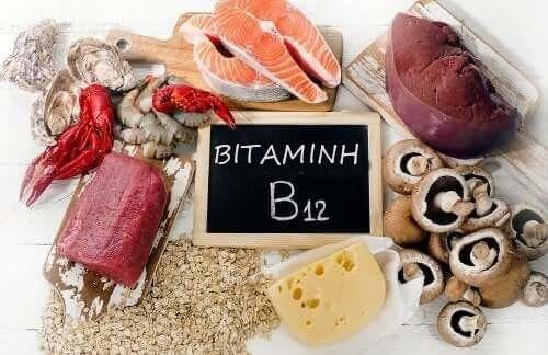 Διάφορες τροφές με βιταμίνη Β12