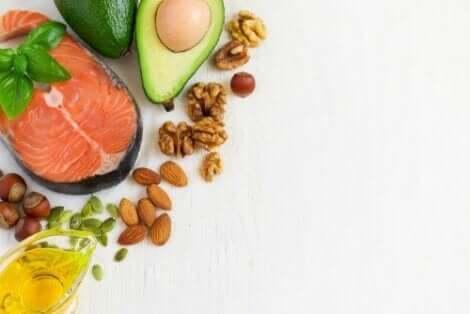 Διάφορα τρόφιμα με ωμέγα-3 λιπαρά