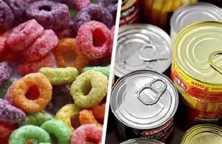 δημητριακά και κονσέρβες