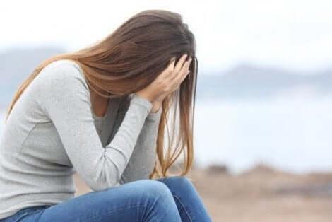 Μία λυπημένη γυναίκα