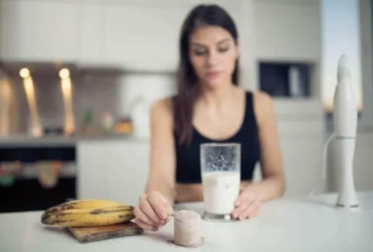 μπανάνα και γάλα