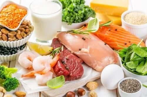 Διάφορα τρόφιμα από όλες τις ομάδες τροφίμων