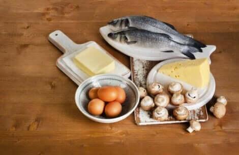 Διάφορα τρόφιμα πλούσια σε βιταμίνη D
