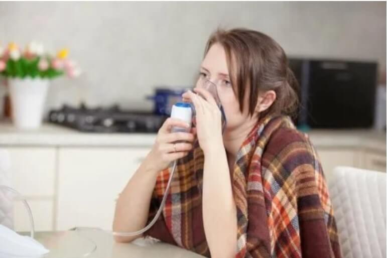 γυναίκα σε οξυγόνο