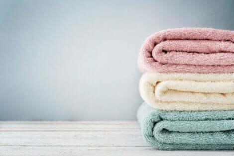 Μια στοίβα με πετσέτες