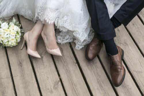 Παπούτσια γαμπρού και νύφης